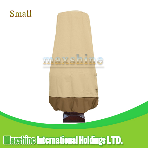 Outdoor UV Protected Small 37 Inches Durable Quality Beige and Brown Fountain Cover