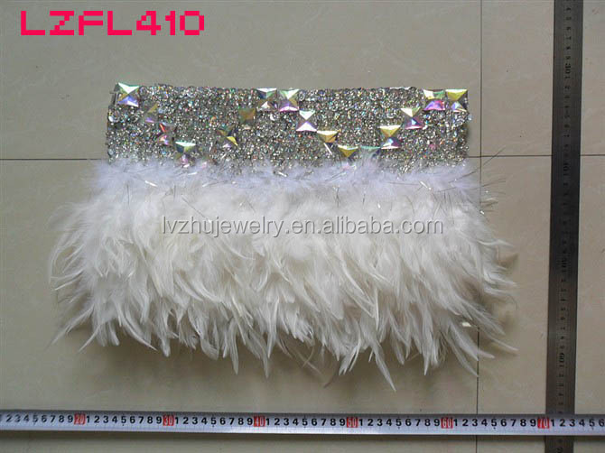 Showgirl/Dance Burlesque Feather Costume Mini Skirt LZFL410