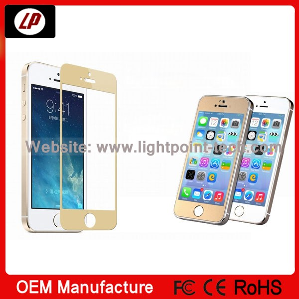 2014 Newest 0.4mm tempered glass screen guard skin sticker for iPhone 5/5s