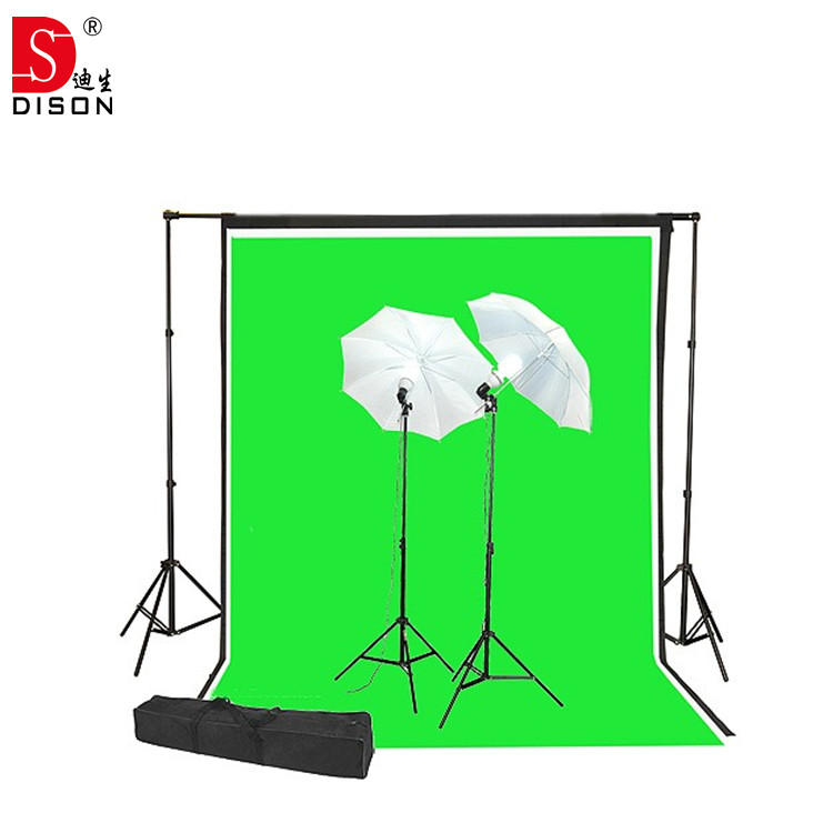 photographic lighting kit with 170w led bulb, photo light stand, and backdrops for photography stuido