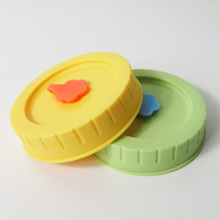 70mm colored plastic cap with silicone sealing for mason jar
