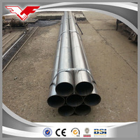 black round metal carbon ERW steel pipe