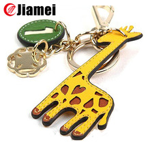 Promotional keyring key chain customized OEM custom animal shape leather keychains