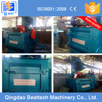 Foundry shot blasting machine for cleaning small metal castings