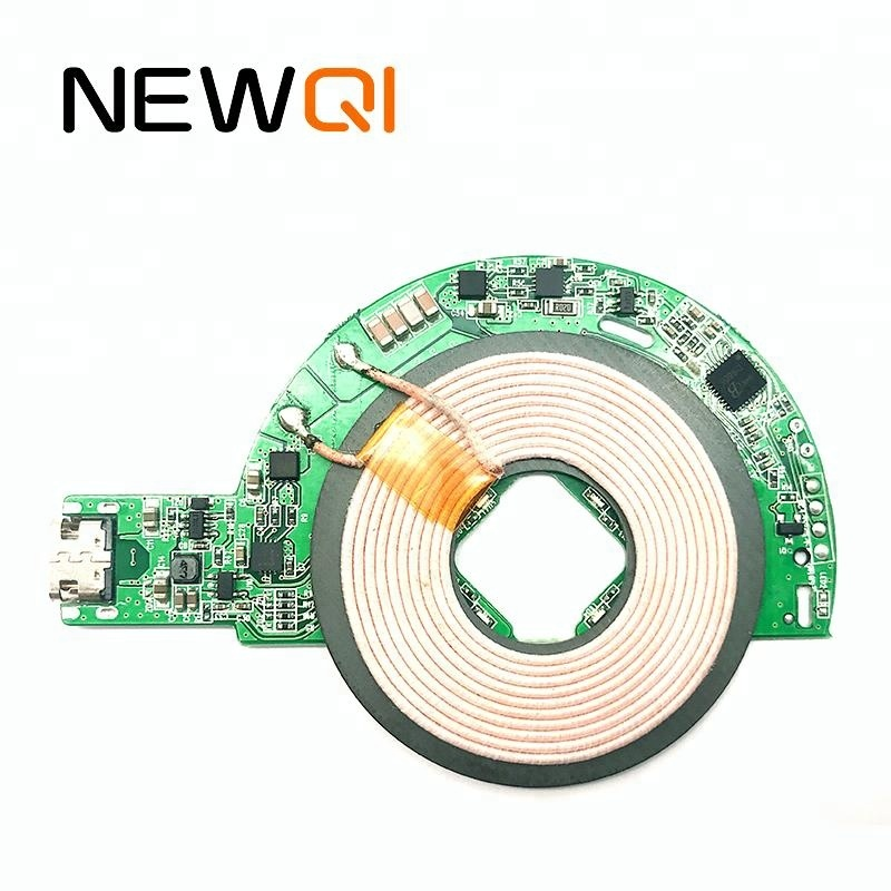 2018 NEWQI 10W/7.5W pcba qi fast wireless charger <strong>pcb</strong> with coil