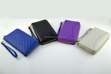 Silver lining RFID blocking woman clutch wallet