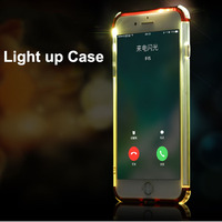 Luxury 3 in1 custom shockproof flash led light up phone case for iphone 8