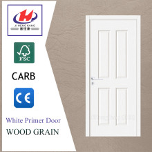 JHK-004P Living Room Interior Colonial White Prefinished Door Solid Wood 4 Panel Interior Doors