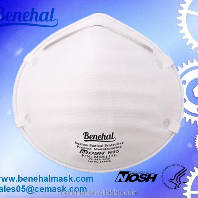 NIOSH N95 cup shape anti air pollution and PM 2.5 disposable face mask