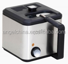 Best selling1.5L 900W adjustable and visiable square stainless steel housing material and enamel tank deep fryer with GS/CB/CE