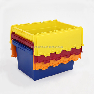 Wholesale China Moving Packaging Storage Stackable plastic moving boxes attached lid container