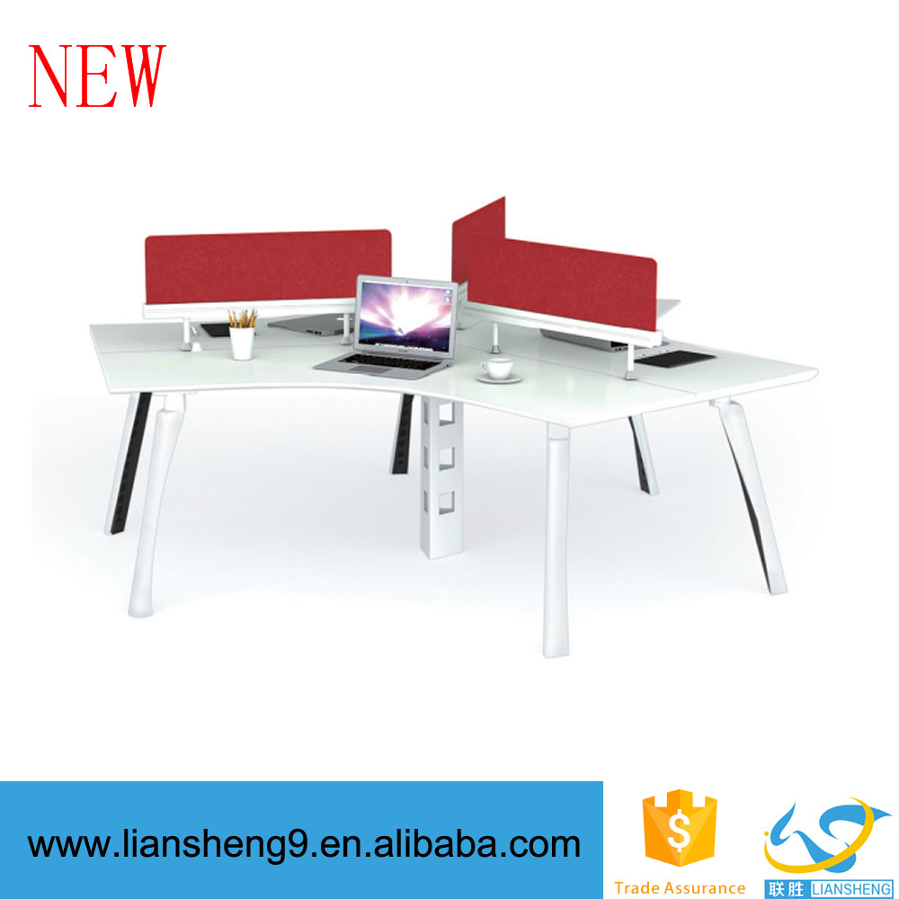 Liansheng office workstation for 3 person modular office desk modern office desk partition wall