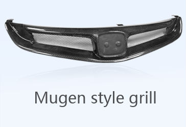 Carbon Fiber Front Grill OEM Style for Honda Civic FD2