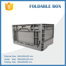 400x300x230mm Top Quality Portable Folding Moving Crate Plastic Foldable Logisitic Turnover Boxes for Tool