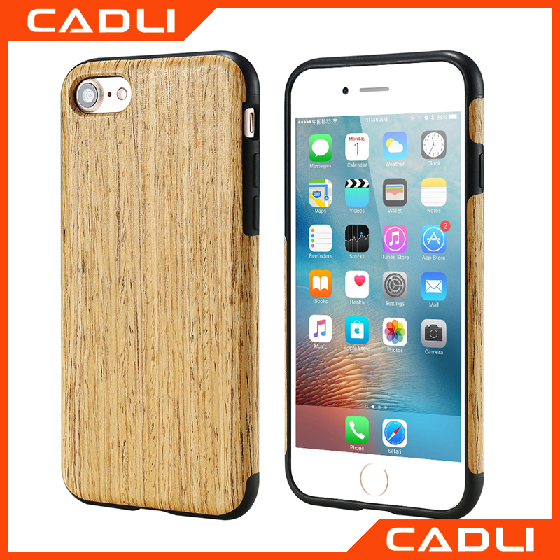 <strong>Hot</strong> For iPhone7 7Plus Cases TPU+Real Wood Shockproof Protect Case For iPhone7 Cover Case