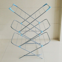 Folding 3-Tier Steel Clothes Drying Rack free Standing