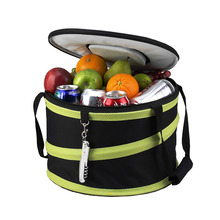 Foldable pop up party food collapsible storage cooler bag