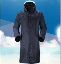 hot sale heavy duty long raincoat for men rain coat hooded