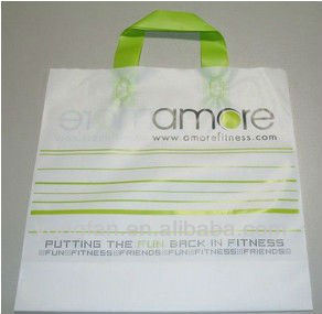 Custom plastic shopping bags with logo