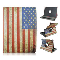 New charms luxury fashion Retro flag Stand PU Leather Cover Case for iPad 2 3 4 56