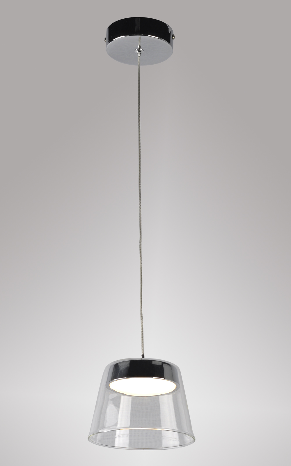 Latest new italy design simple design led pendant lamp with clear glass shade for wholesale