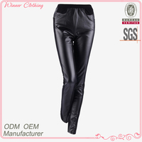 new fashion pants/trousers design tight fit capris black knitted ladies trousers designs