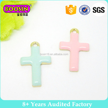 New Cross charm wholesale enamel custom made charms #19756