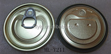 #211 EOE tin lid for cans pack food grade lacquer