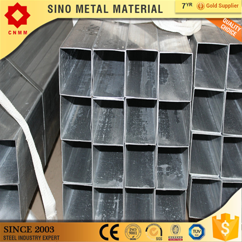 pre galvanized square hollow section hot dipped thread gi pipe with end caps astm galvanized square tube