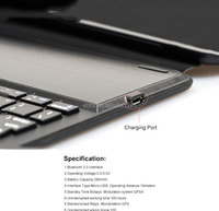 2015 new product tablet keyboard for For iPad Air Keyboard / Magnetic Removable Bluetooth 3.0 Keyboard With Leather Case