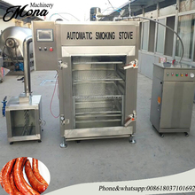 Industrial automatic sausage smoking oven / oven for making smoked fish,chicken,meat,sausage,pork,salami,food