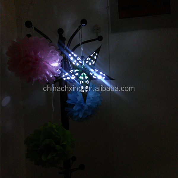 party decoration LED outdoor star lanterns with factory price