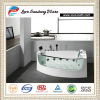 corner acrylic jet whirlpoor sex massage bathtub in factory price