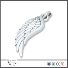 High quality stainless steel carved lifelike pendants angel wing pattern