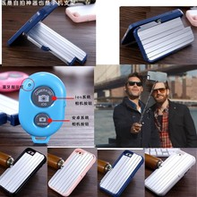Multi function Aluminum phone Case for iphone 6 plus Build-in Selfie stick