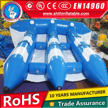 PVC 0.9mm inflatable flying fish tube towable