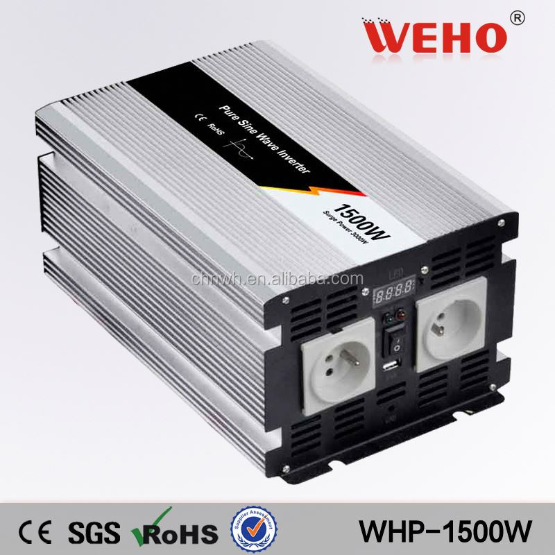 1500w 12v 24v 48v <strong>dc</strong> to ac 110v 220v off grid pure sine wave 1.5kva power inverter
