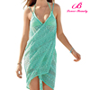 Wholesale 3 Colors Knitted Towel Beach Dress for Girls