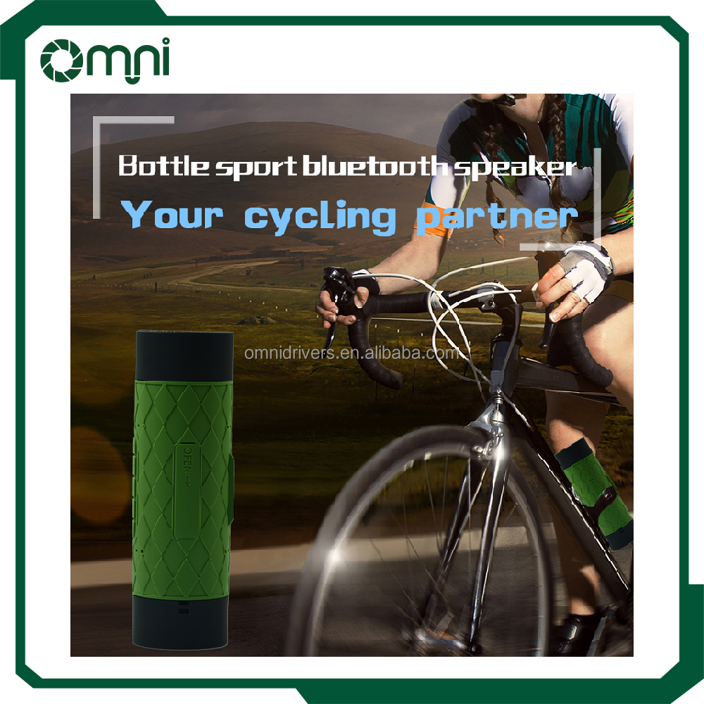 OMNI Portable Bottle Sports Waterproof Shockproof Wireless Bluetooth Speaker with 5200mah Powerbank charger