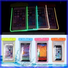 Phone Cases Waterproof Underwater Luminous Glow Diving Pouch Bag Pack Case Cover for Apple iPhone 5S 6/ Plus for Samsung LG G3