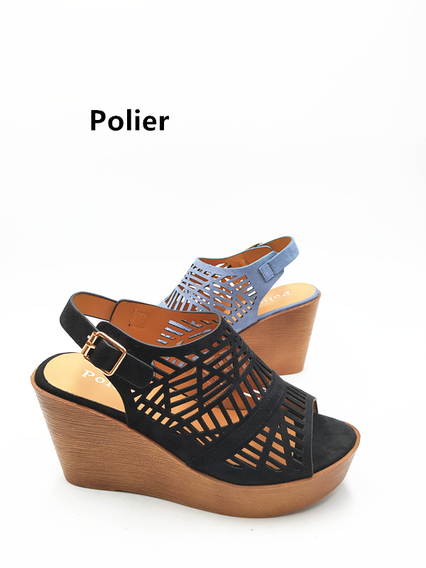 Polier  Woman Sandals 2018  Fashionable Sandals Ladies High heel Wedge  Wholesale Sandals Shoes