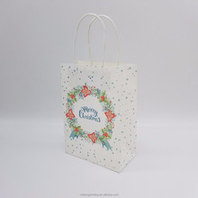 Custom printing and stock kraft paper bag with twisted paper handle