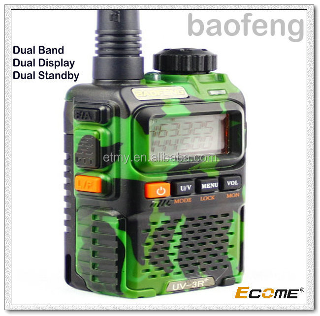 Best wholesale UHF VHF baofeng two way radio UV-3R+ walkie talkie