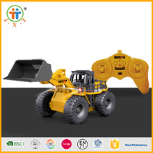 2017 best seller modern 6 ch construction vehicle rc truck metal with battery