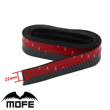 2.5m Front/Rear/Side Skirt/Body Kit Bumper Lip TPVC Soft Rubber Protector Strip Trim