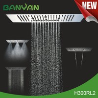 Overhead Rainfall rotating Nozzle Shower Head