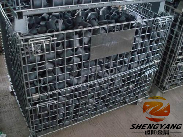 Supermarket storage equipment Gitterboxes solid recycle wire containers volume 0.15-1.56m3 metal mesh transport cages