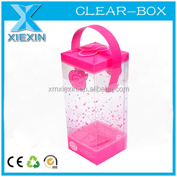 small clear hard plastic transparent display box