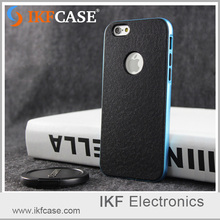 Silicone back and baking varnish frame cover , tpu and pc 2in1 mobile phone case for iphone 6