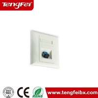 sc fiber optic faceplate keystone wall single face plate